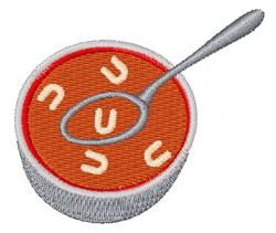 Alphabet Soup Font U embroidery design