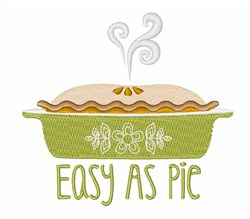 Easy As Pie embroidery design