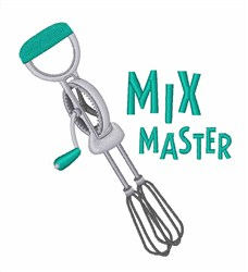 Mix Master embroidery design
