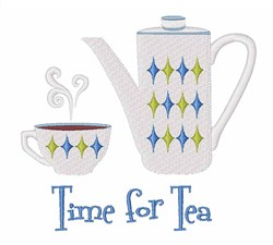 Time For Tea embroidery design