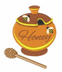 Pot Of Honey embroidery design