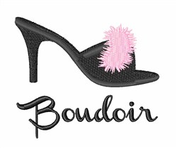 Boudoir Shoe embroidery design
