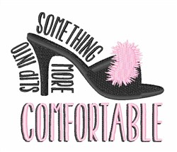 Comfortable Shoes embroidery design