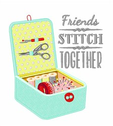 Friends Stitch Together embroidery design