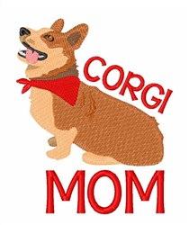 Corgi Mom embroidery design