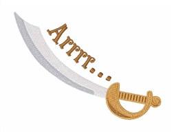 Arrrr Pirate Sword embroidery design