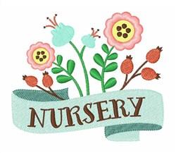 Nursery Flowers embroidery design