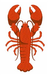 Maine Lobster embroidery design