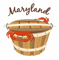 Maryland Crab embroidery design