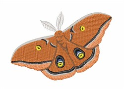 Polyphemus Silk Moth embroidery design