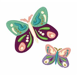 Flying Butterfies embroidery design
