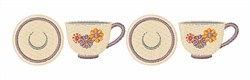Tea Cup Border embroidery design