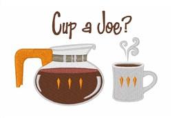 Cup A Joe embroidery design
