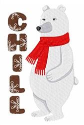 Chill Bear embroidery design