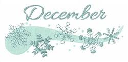 December embroidery design
