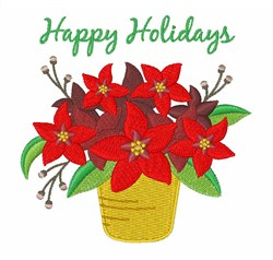 Holiday Flowers embroidery design