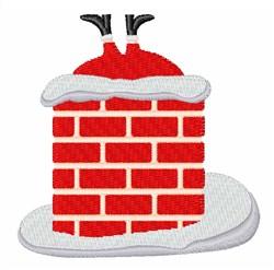 Santa In Chimney embroidery design