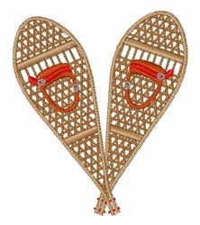 Vintage Snowshoes embroidery design