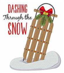 Dashing Through Snow embroidery design