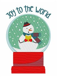 Joy To The World embroidery design