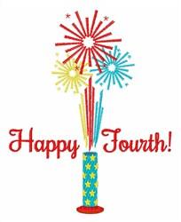 Happy Fourth embroidery design