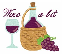 Wine A Bit embroidery design