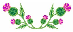 Scottish Thistle embroidery design