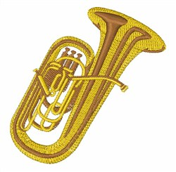 Tuba embroidery design