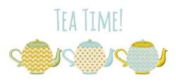 Tea Time! embroidery design