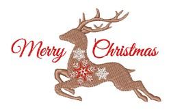 Merry Christmas Deer embroidery design