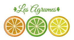 Les Agrumes embroidery design