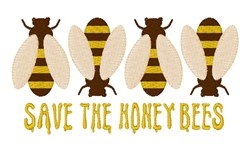 SaveThe Honey Bees embroidery design