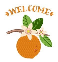 Welcome Orange embroidery design