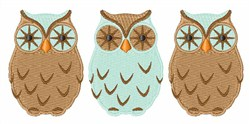 Hoot Owls embroidery design