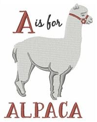 A For Alpaca embroidery design