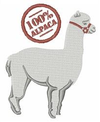 100% Alpaca embroidery design