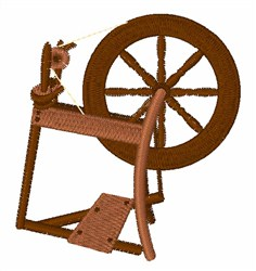 Spinning Wheel embroidery design