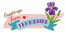Tennessee Greetings embroidery design