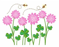 Flowers & Bees embroidery design