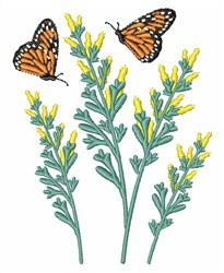 Monarch Butterflies embroidery design