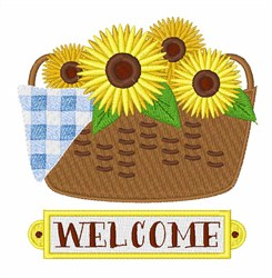 Sunflower Welcome embroidery design