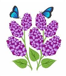 Purple Lilac embroidery design