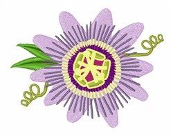 Purple Passion Flower embroidery design