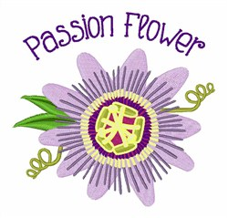 Passion Flower embroidery design