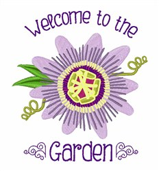 Welcome To Garden embroidery design