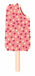 Strawberry Shortcake Popsicle embroidery design