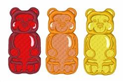 Gummy Bears embroidery design