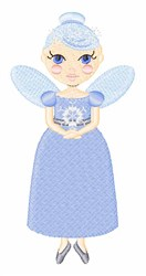 Fairy Of Winter embroidery design