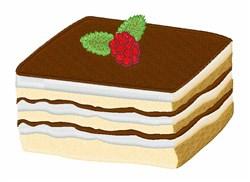 Tiramisu Dessert embroidery design