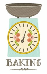 Baking Scale embroidery design